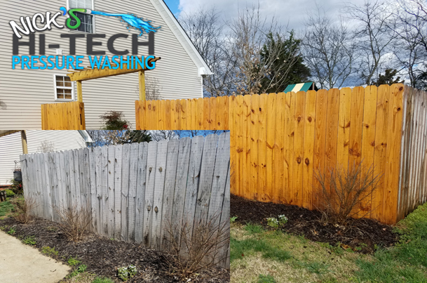 Fence Pressure Washing and Staining