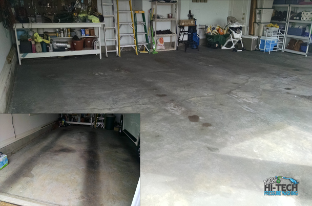 Garage floor Pressure Washing and Industrial Floor Pressure Washing
