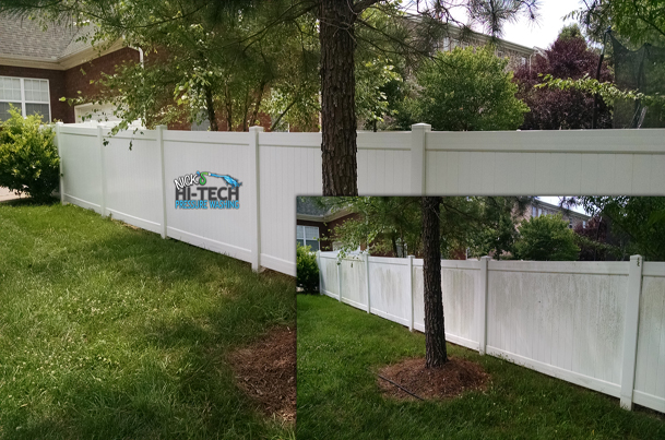 PVC or Vinyl Fence Soft Washing, Commercial and Residential