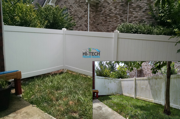 Vinyl fence cleaning hi tech pressure washing inc